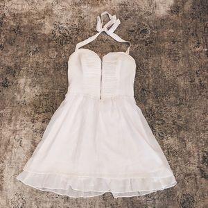 Guess white halter dress
